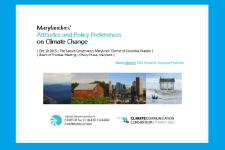 Marylanders' Attitudes and Policy Preferences on Climate Change
