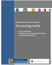 Global Warming's Six America's Screening Tools:  Survey Instructions; Instructions for Coding and Data Treatment; and Statistical Program Scripts